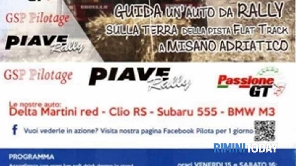 pilota per un giorno guida un'auto da rally a misano flat track arena-2