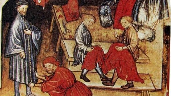 Tra forbice e incudine, gli ateliers del tardo medioevo