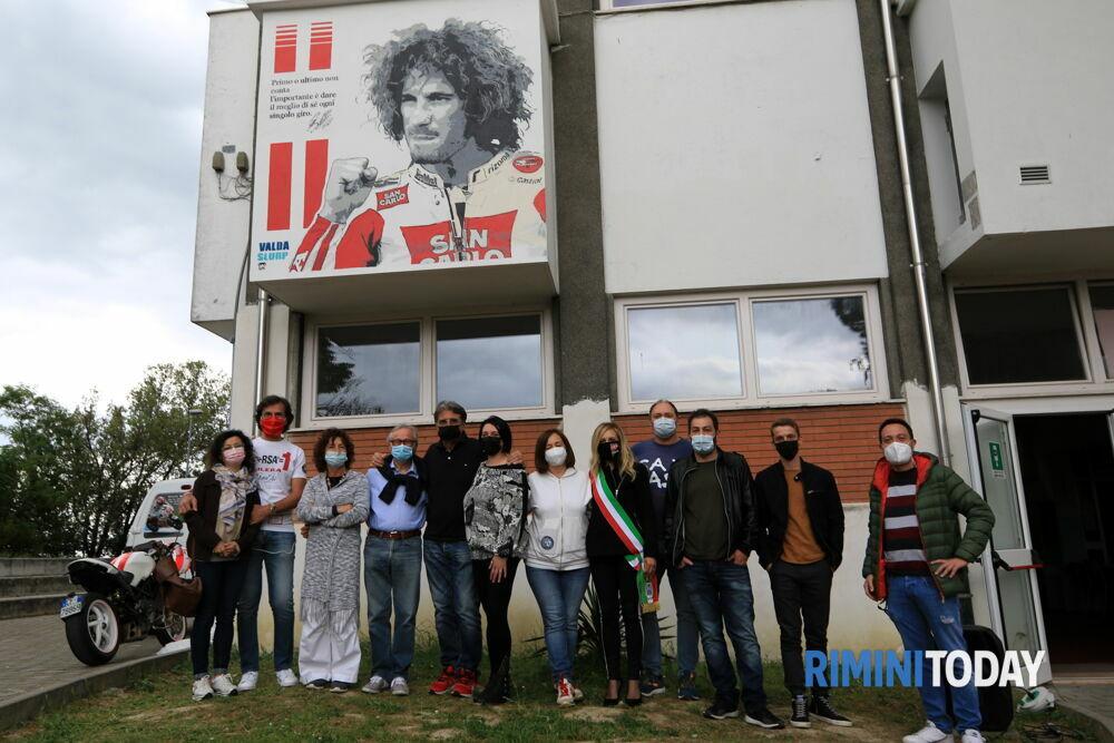 A Coriano un murales per celebrare l'indimenticato Sic