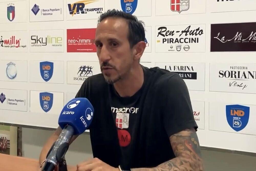 """Il Rimini si gioca i playoff contro il retrocesso Cattolica, Mastronicola: """"Il pericolo ad oggi siamo noi"""""""