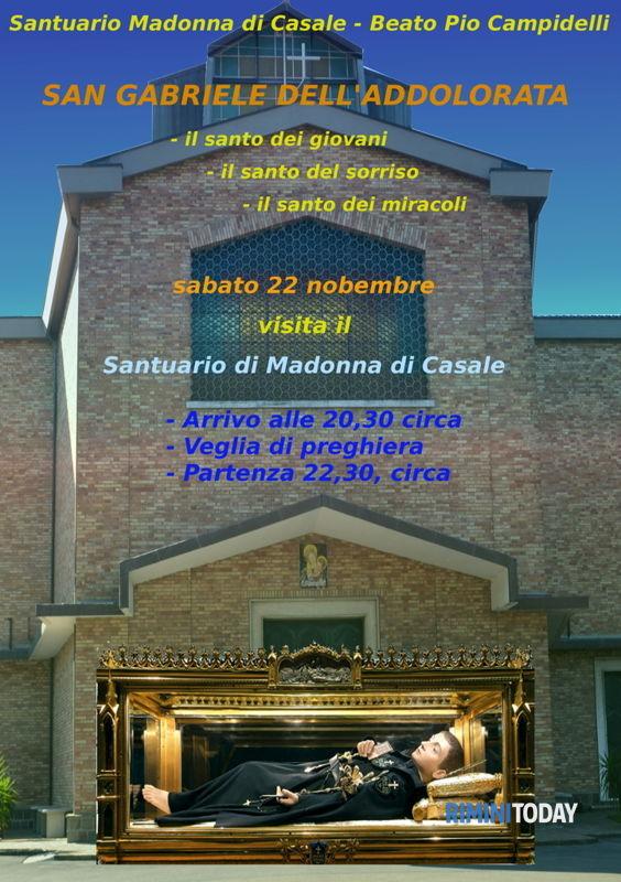 San Gabriele Dell Addolorata Al Santuario Di Madonna Di Casale Eventi A Rimini