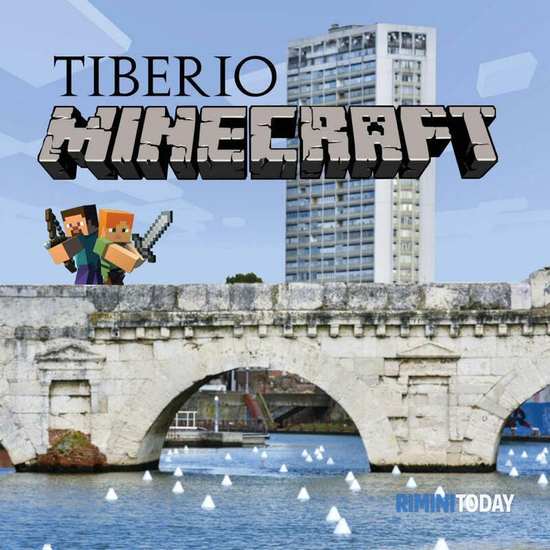 Il ponte di Tiberio ricostruito in digitale su Minecraft
