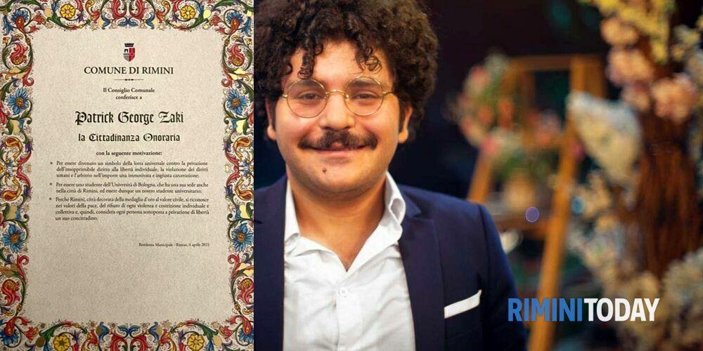 Il consiglio comunale nomina Patrick Zaki cittadino onorario di Rimini