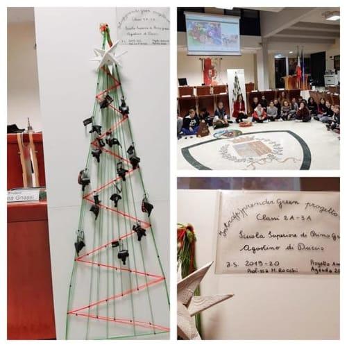 albero natale - scuola Di Duccio - studenti - consiglio comunale-2