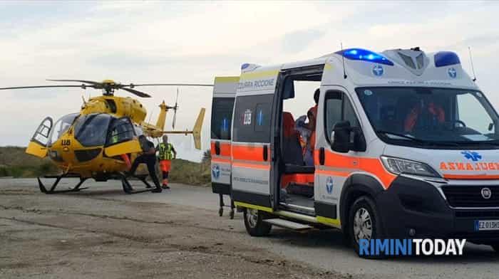 incidente ambulanza elicottero soccorsi mulazzano foto - 0012
