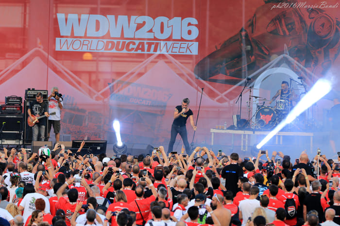 Piero Pelù al World Ducati Week 2016 (foto Marzio Bondi)